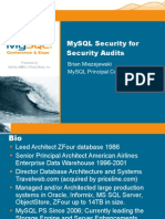 Securing MySQL for a Security Audit