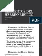Elementos Del Hebreo Bíblico