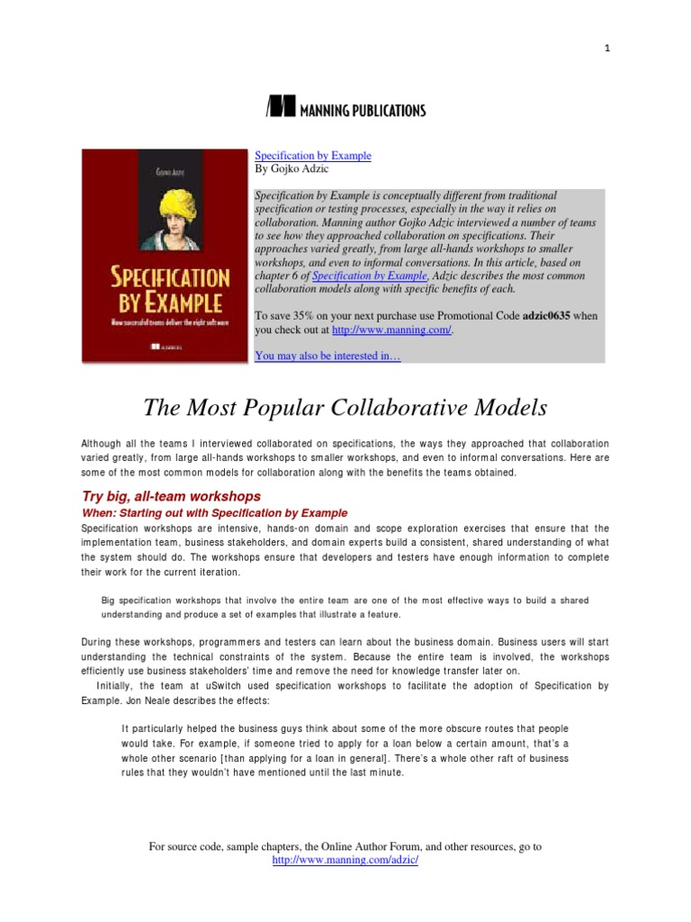 Specification By Example Free Excerpt Scrum Software