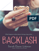 Backlash by Sarah Darer Littman EXCERPT