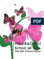 2013-2014 Annual Report for Huakailani School for Girls