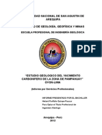 Estudio Geologico Mina Pampahuay