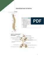 Spine deformities
