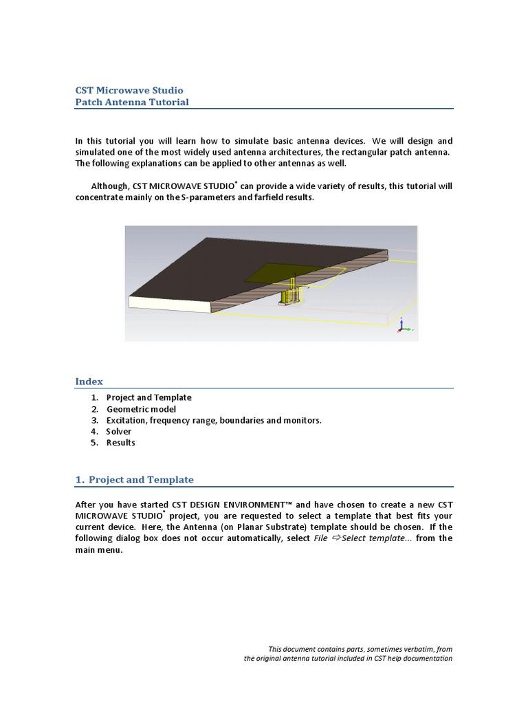 Practica 5 Tutorial CST | Coaxial Cable | Antenna (Radio)