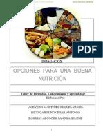 Trabajo de Nutrición