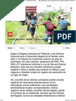23-02-15 Podran migrantes obtener Registro de Identidad en EU