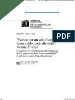 """23-02-15 """"Vamos por un solo Nuevo León unido, nada dividido"""" Ivonne Álvarez"""