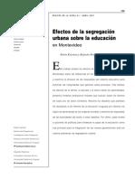 Efectos de la segregación urbana sobre la educación en Montevideo