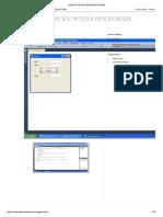 Ejercicios en Windows Forms