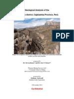 Shahuindo Geologic Analysis Report Final