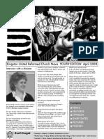 KURC Church news April - Youth Edition