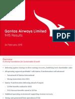 Qantas 2014/15 Half-Year Results - Investor Presentation