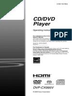 Sony Changer DVP-CX995V Manual