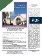 Bulletin for 22 February 2015