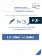 Ítems de La PAES 2014 y Justificaciones de Las Opciones d e Respuestas - Estudios Sociales