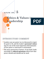 Topic 5.Ethics & Values in Leadership.ppt