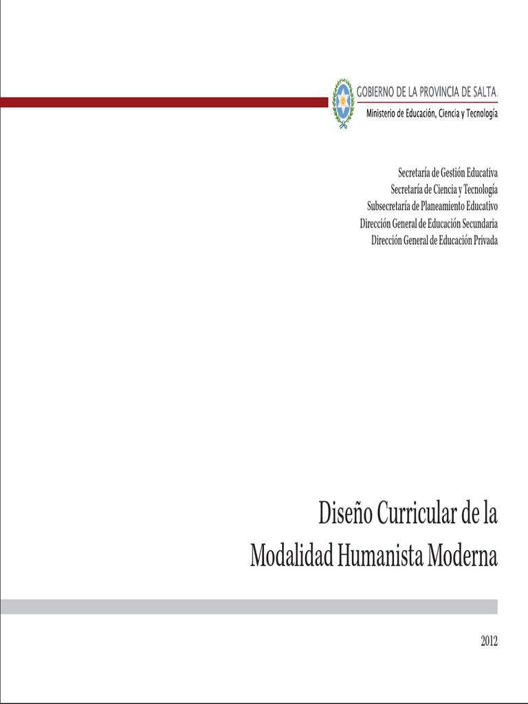 Disenio Curricular Humanista Moderna