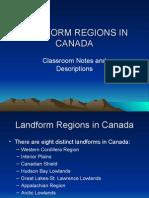 Landform Regions in Canada Ppp