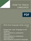 How to Teach Language