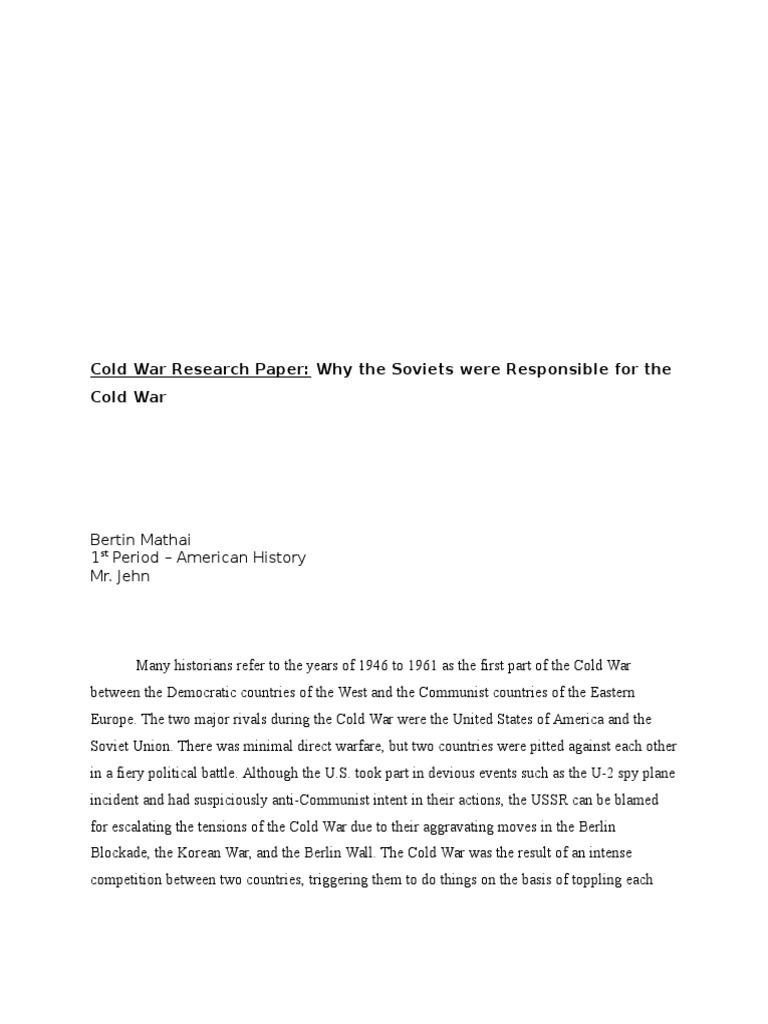 Cold war term paper