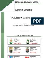 Politica de Precios Javier Oubina