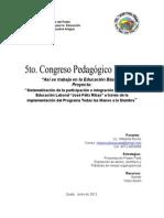 Propuesta Congreso Pedagógico Junio 2012