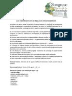 Guia Para Presentacion de Trabajos en Formato de Poster