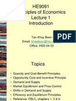 HE9091 Lecture 1 Principles of Economics