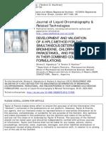 J Liq Chromatogr Relat Technol 36 2829 2013