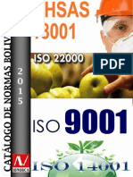 Catalogo de Normas Bolivianas Enero 2015