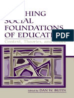 Social Foundations of Education