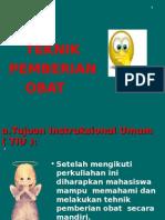 Teknik Pemberian Obat