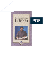 Como Estudiar La Biblia Guia de Estudio