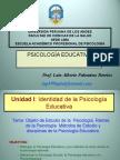 Objeto de La Ps. Educativa