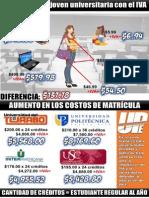 Costo de Estudio y Matrícula con el IVA