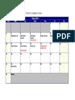 class calendar algebra