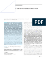 Legal and Ethical Issues in the International Transaction of Donor