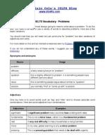 IELTS Vocabulary - Problem