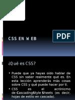 CSS en web
