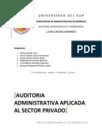 Auditoria Administrativa Aplicada Al Sector Privado Bueno[1]