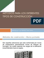 2. Metodos para los diferentes tipos de construcción