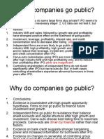 why do companies go public
