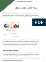 3 Hal Penting Melakukan Diet Sambil Puasa _ TeknikDiet