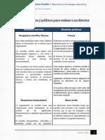 Modelos teoricos y politicos para evaluar a un Director