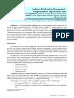Customer Relationship Management ‐ Competitiveness Improvement Tool