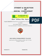 _RECRUITMENT__AND__SELECTION__OF__FINANCIAL_CONSULTANT_OF_HDFC_STANDARD_LIFE_INSURANCE__.doc