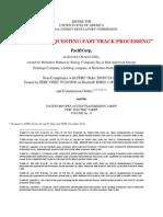 FERC Complaint Request Fast Track