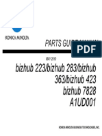 PARTS MANUAL bizhub 223
