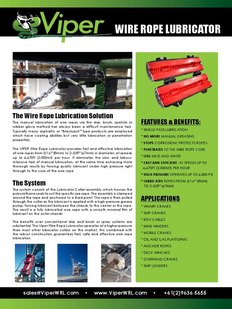 VIPER Brochure 2 2018 | Wire | Lubricant