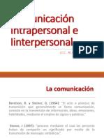 Comunicación Intrapersonal e Interpersnal
